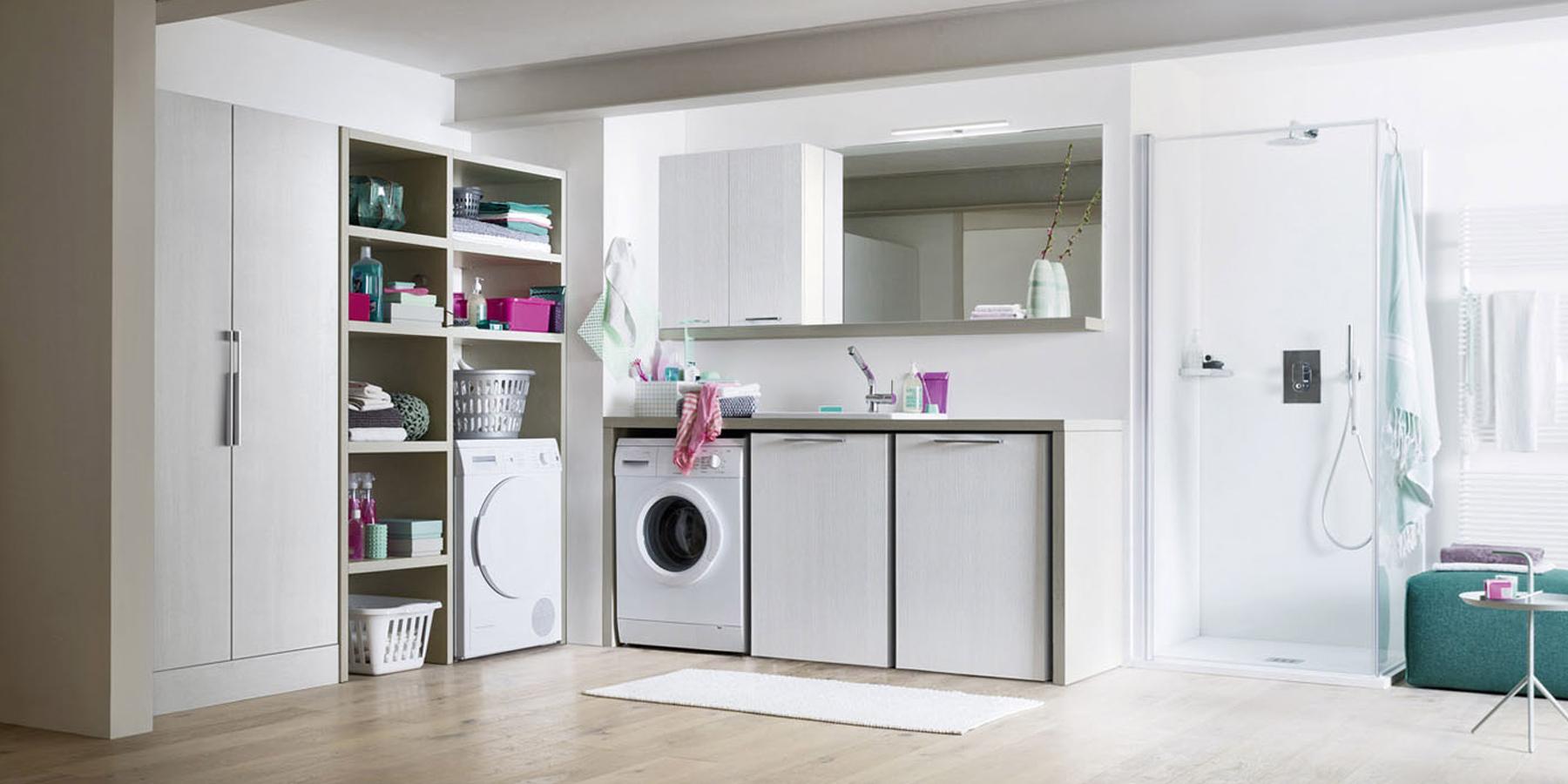 Area lavanderia: come progettarla in modo invisibile